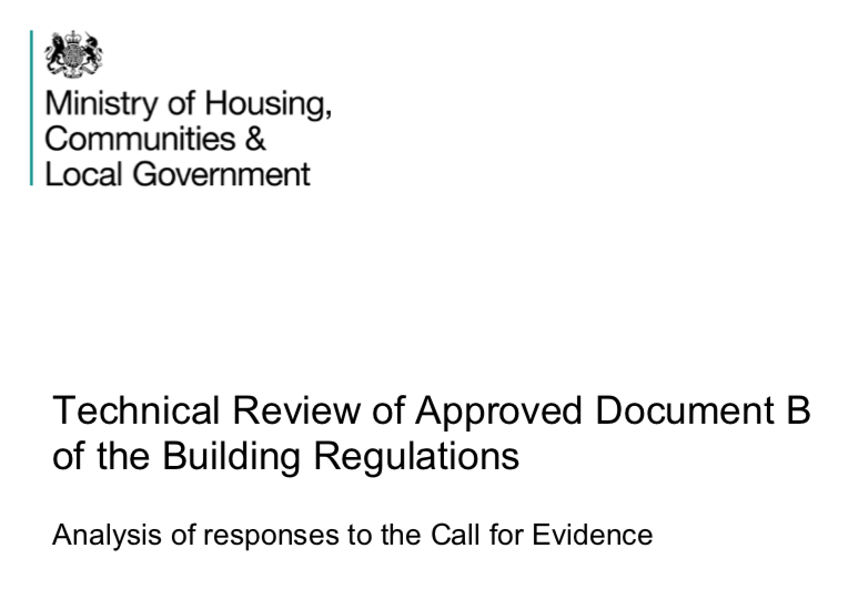 Update on review of Approved Document B